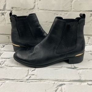 Luca Ferri leather boots with gold heel details